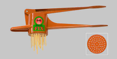 Original Kull Spaetzle-Schwob-FIX ORANGE, for Spaetzle like handmade - Spaetzle Press - MADE IN GERMANY - dishwasher safe!