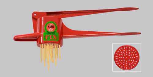 Original Kull Spaetzle-Schwob-FIX RED, for Spaetzle like handmade - Spaetzle Press - MADE IN GERMANY - dishwasher safe!