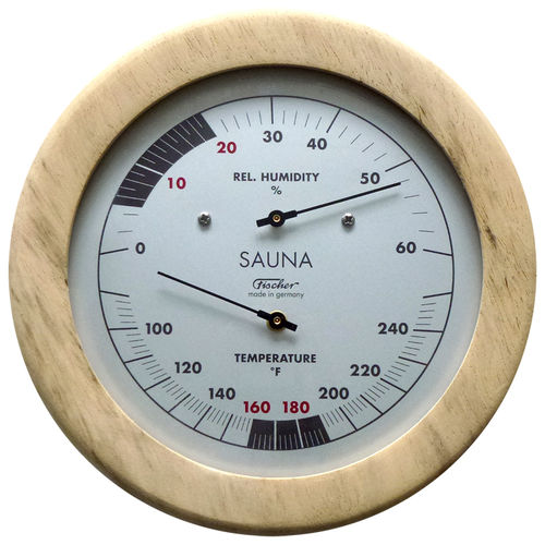 Sauna Thermometer & Hygrometer 155 mm, 196TH-03F (Englisch, °F)