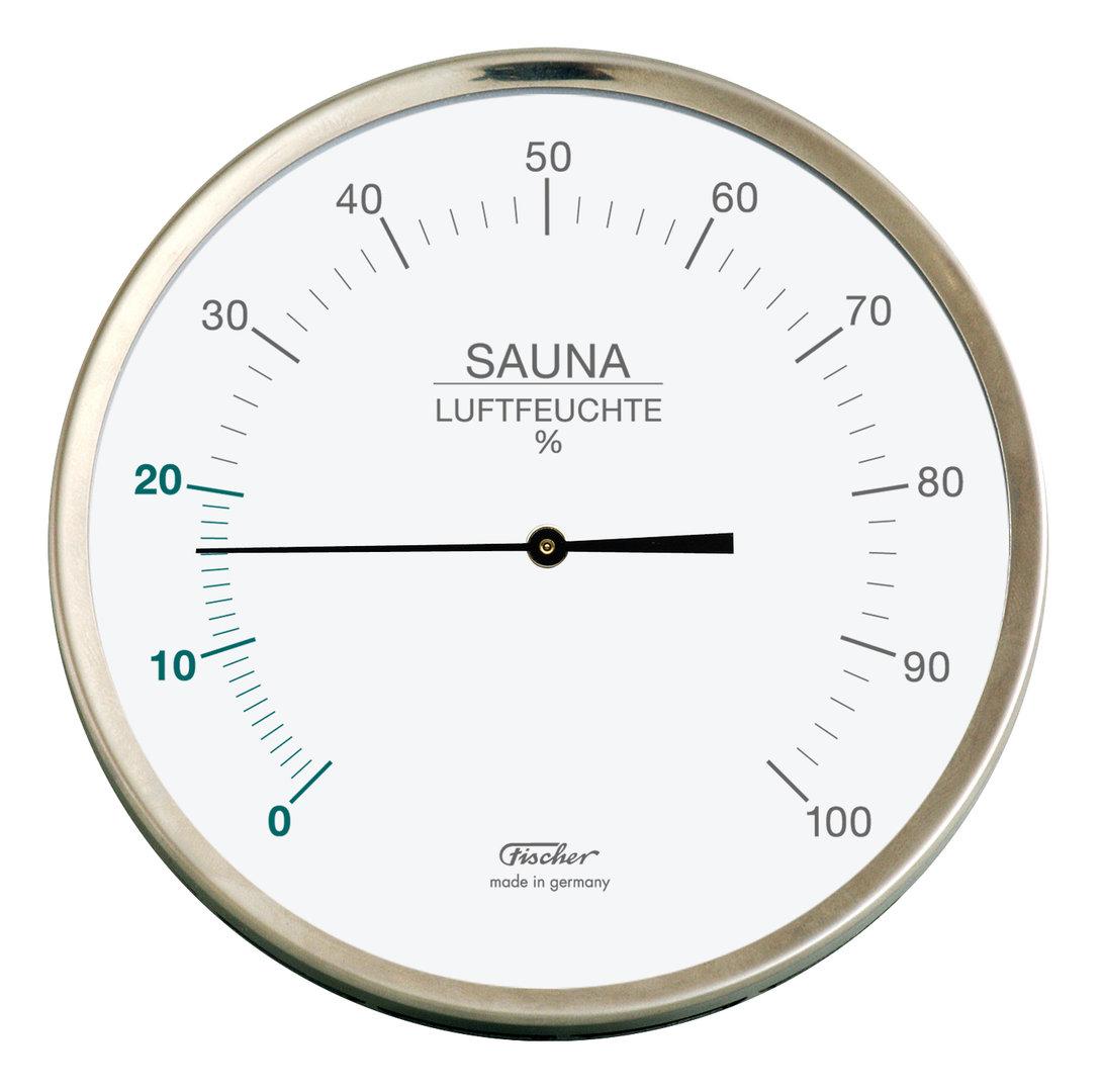 sauna hygrometer 160 mm 192 01 von fischer made in germany. Black Bedroom Furniture Sets. Home Design Ideas