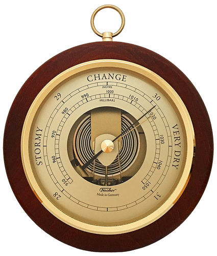 Barometer Messing/Mahagoni 170 mm - 1436R-22 (US Version)