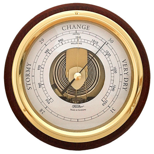 Barometer Messing/Mahagoni 170 mm - 1434B-22 (US Version)