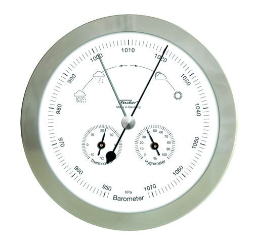 "Barometer with Thermometer & Hygrometer 6.3"" - 1602-01 (German Display / °C)"