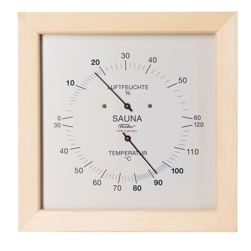 Sauna Thermometer & Hygrometer 200 mm, 187TH-03