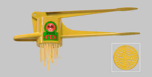 Original Kull Spaetzle-Schwob-FIX YELLOW, for Spaetzle like handmade - Spaetzle Press - MADE IN GERMANY - dishwasher safe!