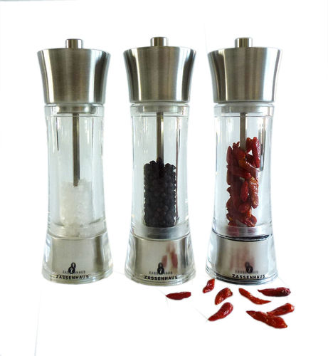 Zassenhaus  Chilli + Pepper + Salt Mill Set 7.0-inch
