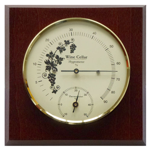 Wine Cellar Hygrometer & Thermometer 5.5 Inch, 1225HT-22 (English, °C)