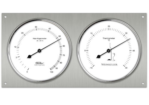 Wine Cellar Hygrometer & Thermometer 9.4 x 5.1 Inch, 140.01  (German, °C)