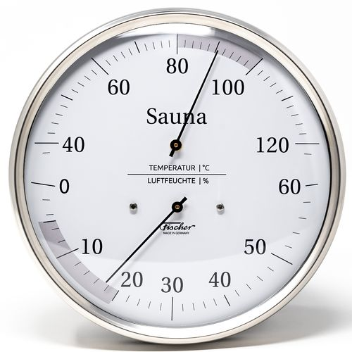 Sauna Thermometer & Hygrometer 160 mm, 195-01