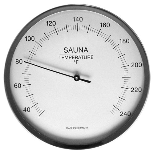 Sauna Thermometer 5.1 Inch, 197-01F (English, °F)