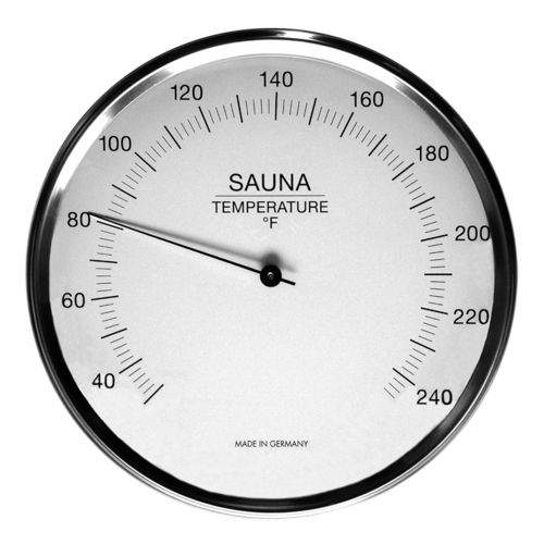 Sauna Thermometer 6.3 Inch, 198-01F (English, °F)