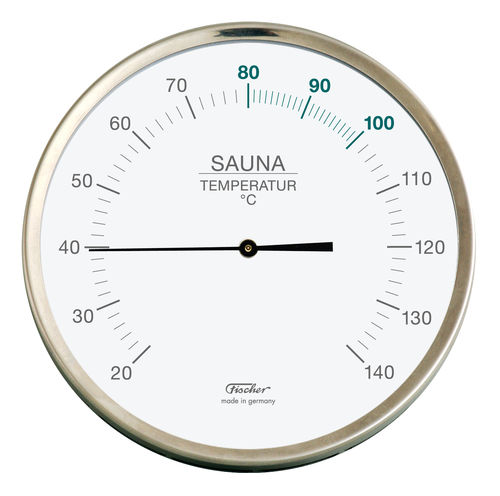Sauna Thermometer 6.3 Inch, 198-01 (German, °C)