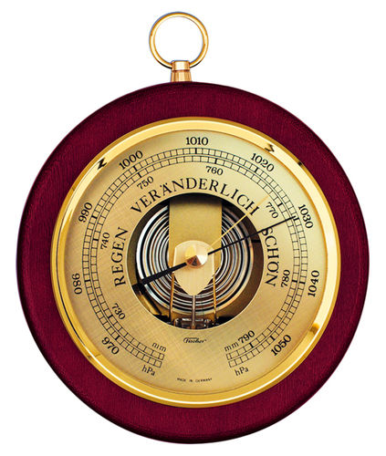 "Barometer Brass-Mahogany 6.7"" / 170 mm - 1436R-22 (German Display)"