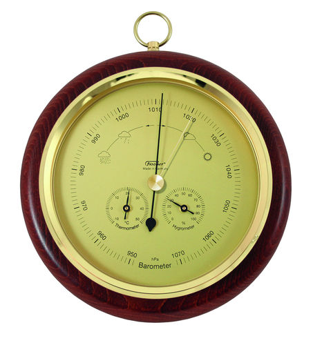 "Fischer Barometer with Thermometer & Hygrometer 7.9"" - 1694R-22 (German Display / °C)"