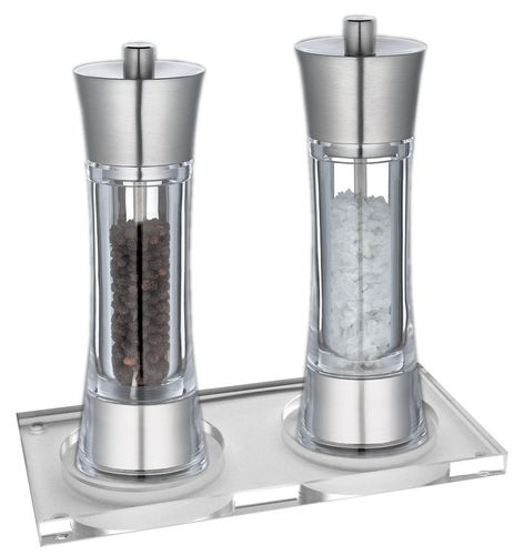 Salt- & Pepper Mill Set AACHEN with Coaster - 35308/35315+U