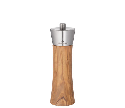Zassenhaus Salt-/Pepper Mill AUGSBURG Olive Wood / Stainless Steel