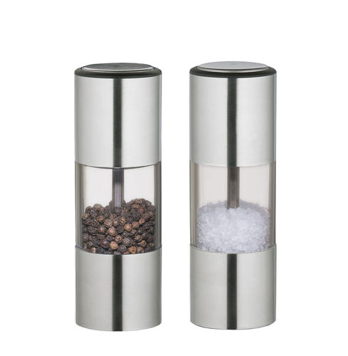 Zassenhaus Salt-/Pepper Mill ULM, Stainless Steel