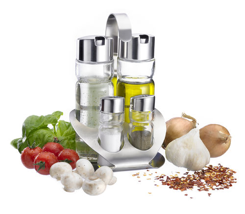 Westmark Cruet Stand Salt, Pepper, Oil & Vinegar »Wien«, 4Pc