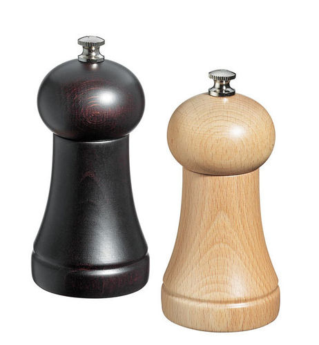 "Zassenhaus Pepper & Salt Mill Set ""Freiburg"", 12 cm, wenge / nature  - #021769 + #021752"