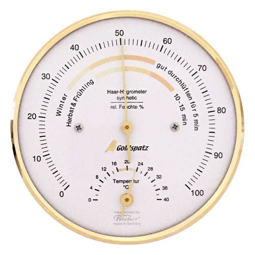 Goldspatz living climate hygrometer with thermometer °C, Ø 103 mm