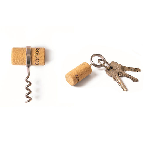 Corkey corkscrew on keychain